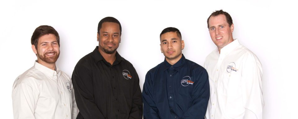 Team of Office Move Pro drivers, installers, and managers