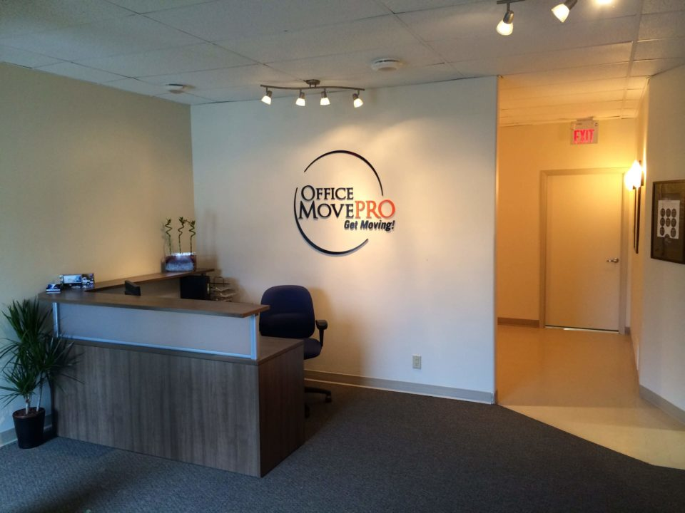 Office Move Pro Winnipeg's reception desk