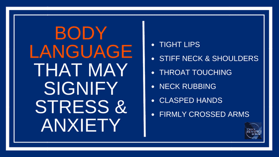list of body language signs signalling emotional distress