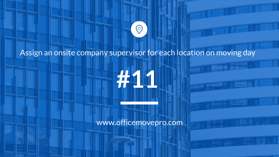 office building background with moving checklist text tip overlay