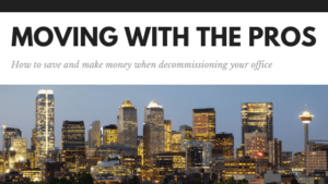 how to save and make money decommissioning your office