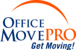 office move pro logo with tag line: get moving